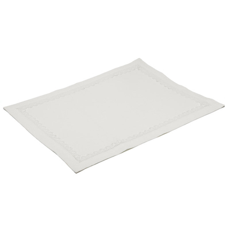 Placemat - Lace Border - Soft White