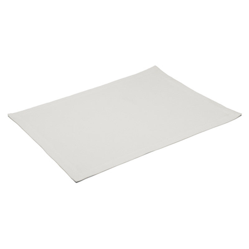 Placemat - Plain Stitch - Soft White