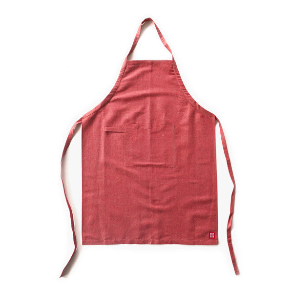 Blended Linen Apron - Pure Red