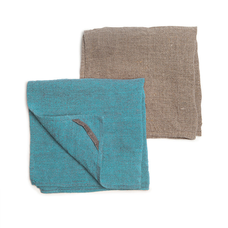 Neat&Clean Kitchen Cloths - Aqua Blue & Flax