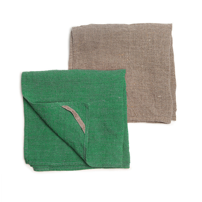 Neat&Clean Kitchen Cloths - Meadow Green & Flax