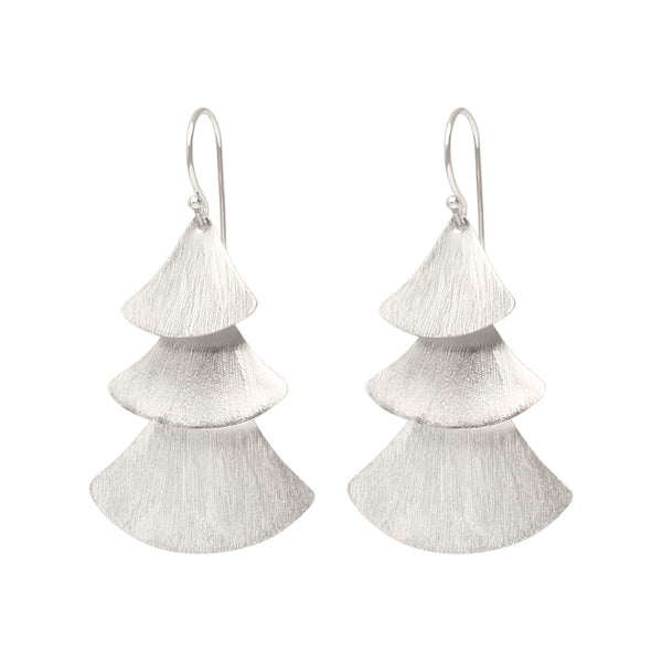 Sterling Silver Traditional Triple Cascading Earrings