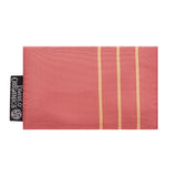 Salmon & Gold Stripes Recycled Kimono Jewelry Pouch