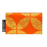 Orange & Gold Recycled Kimono Jewelry Pouch