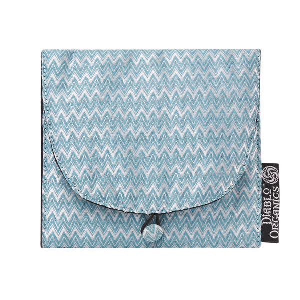 Blue Chevron Jewelry Pouch