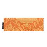 Orange & Gold Flower Recycled Kimono Jewelry Pouch