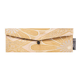 Gold & Silver Flower Recycled Kimono Jewelry Pouch