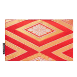 Red & Gold Recycled Kimono Jewelry Pouch