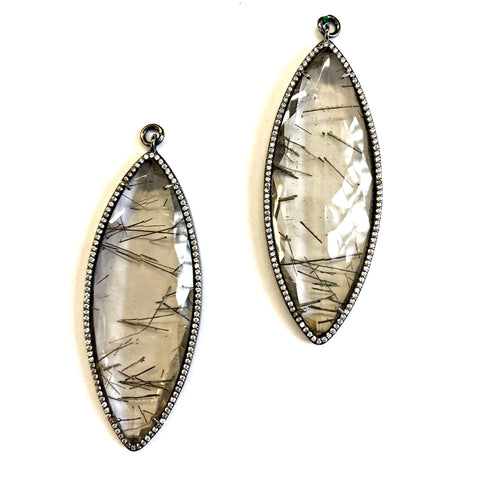 Single Faceted Tourmalated Quartz 3