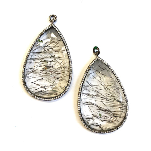 Single Faceted Tourmalated Quartz 2