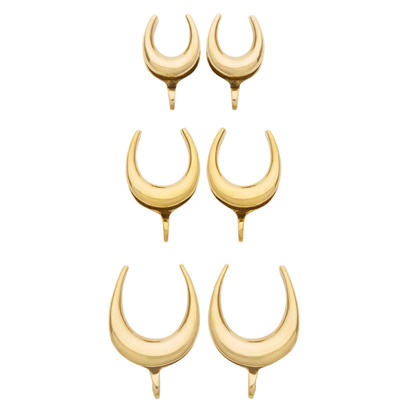 Solid Brass Saddle Spreader Hooks