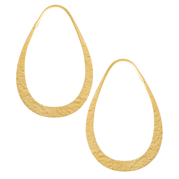 Hammered Teardrops (Solid Brass)