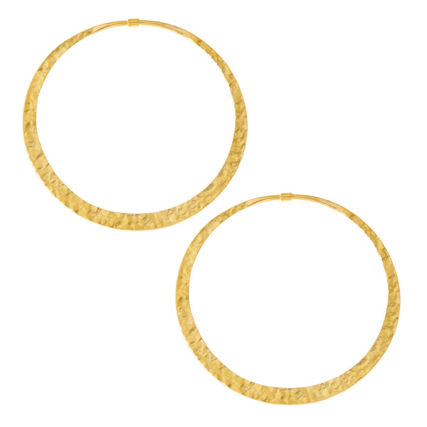 Hammered Hoops (Solid Brass)