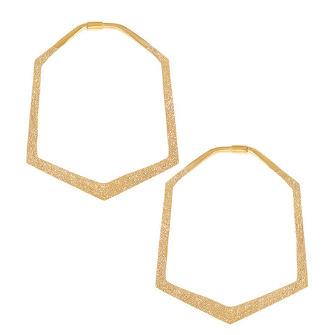 Distressed Hexagon (Solid Brass)