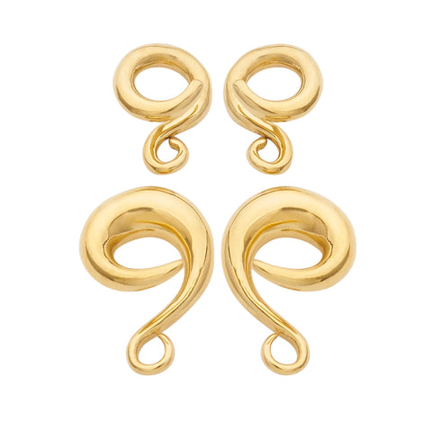 Vermeil Sterling Silver Classic Coils