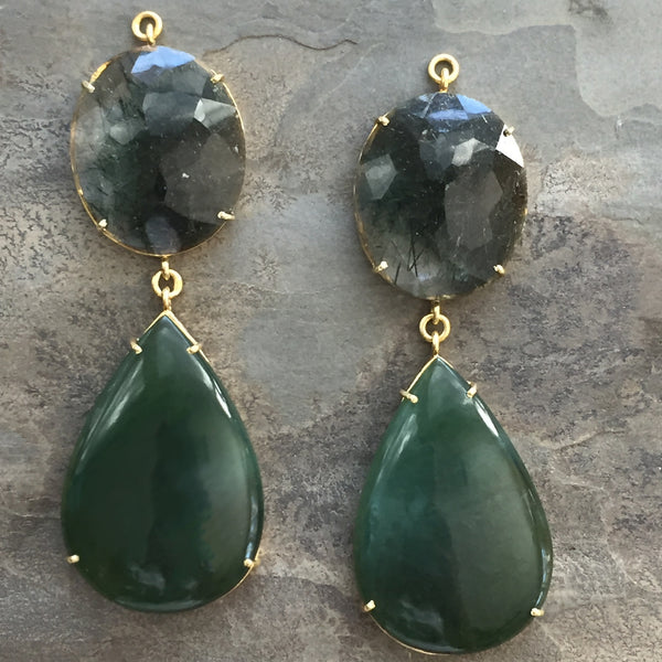 Green Quartz Gold Vermeil Jollie