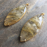Rutilated Quartz Gold Vermeil Jollie