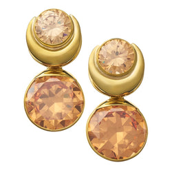 Solid Brass Fused Weights with Round Champagne CZ