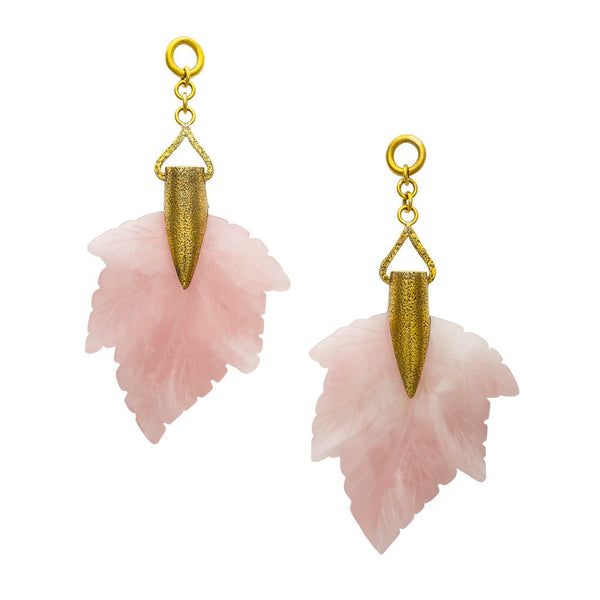 Rose Quartz Maple Leaves