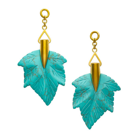 Turquoise Maple Leaves
