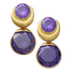 Solid Brass Fused Weights with Round Purple CZ