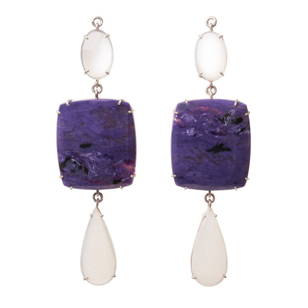 White Moonstone & Charoite Jollie