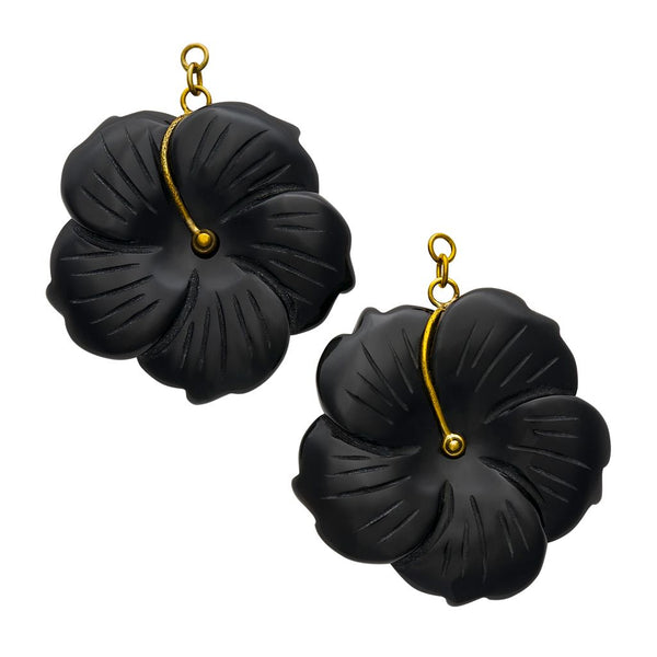 Black Obsidian Flowers