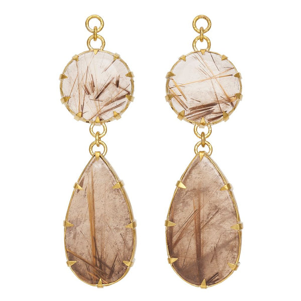 Rutilated Quartz Dangles