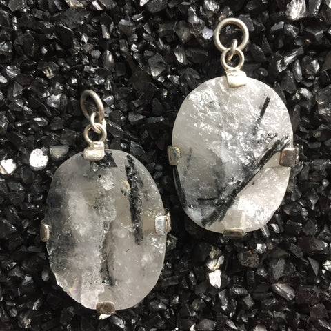 Brazilian Tourmaline Quartz Dangles