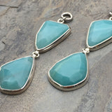 Abstract Faceted Amazonite Dangles