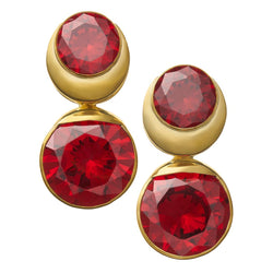 Solid Brass Fused Weights with Round Red CZ