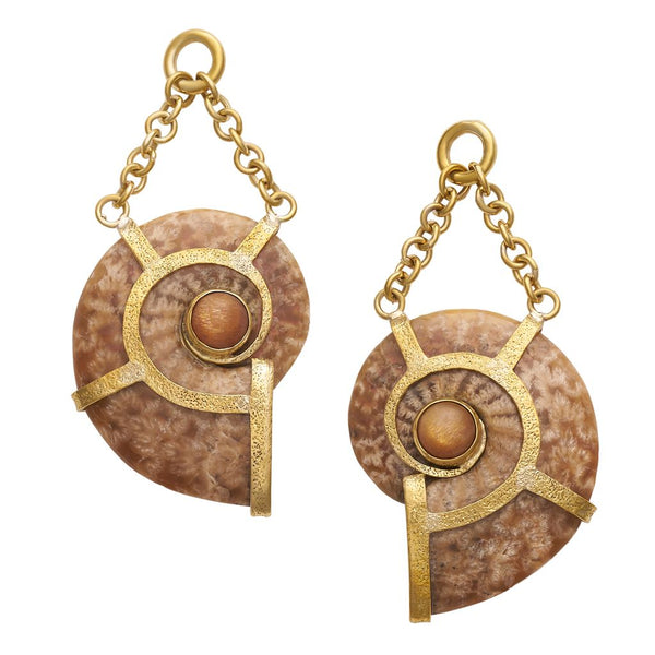 Floating Ammonites Dangles with Sunstone
