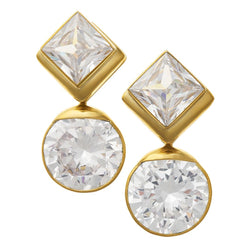 Solid Brass Fused Weights with Diamond/Round Crystal CZ