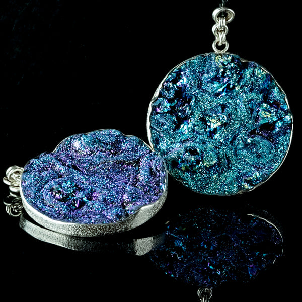Blue Druzy Disc 60mm