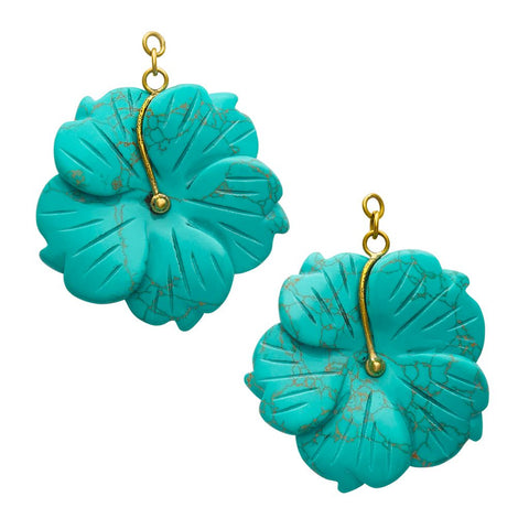Turquoise Stone Flowers