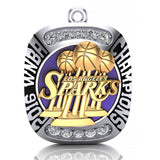 Los Angeles Sparks Championship Fan Ring Top Pendant