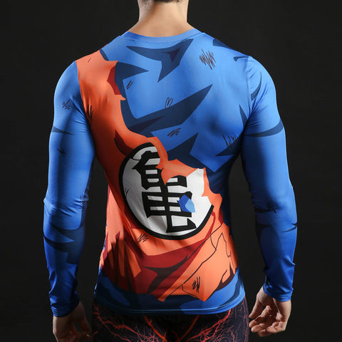 Goku Compression Shirt For Men (Long Sleeve)