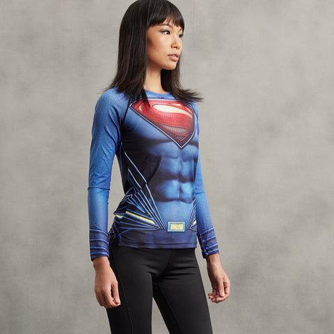 SUPERMAN Women Compression Shirt