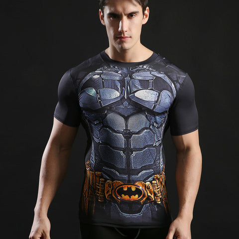 Batman Compression Shirt For Men (Short Sleeve) Edition J