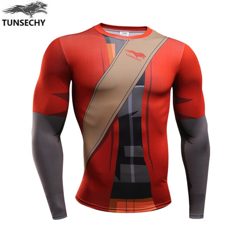 Naruto Armor Bodybuilding Compression Shirt for Men (Long Sleeve)