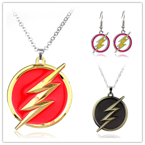 Premium Flash Necklace (Black & Red) & Earrings - FREE For A Limited Time