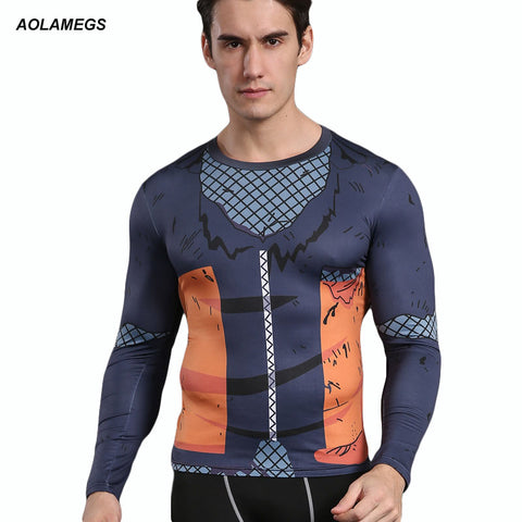 Naruto 3D Compression Shirt for Men (Long Sleeve)