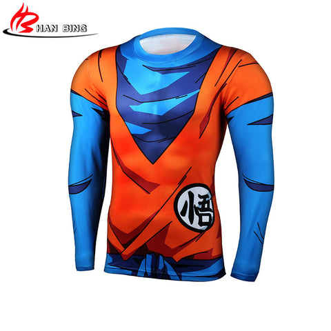 Dragon Ball Goku Compression Shirt for Men (Long Sleeve)
