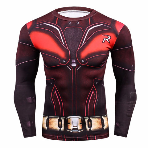 Robin 3D Crossfit/BodyBuilding Compression Shirt for Men (Long Sleeve)