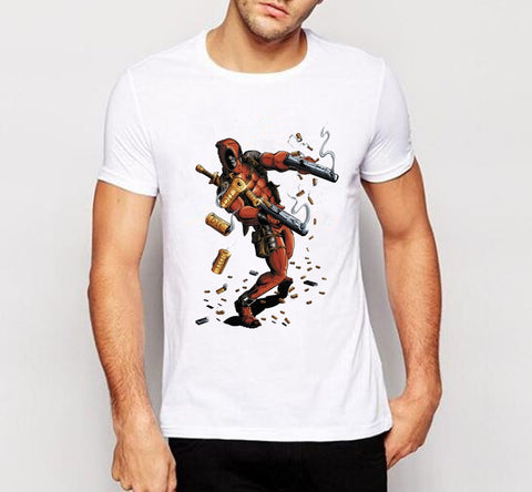 Deadpool T Shirt Men Brand Casual Style Short Sleeve O-neck Tshirts Boy Funny Superhero Printed T-shirts homme W-130#
