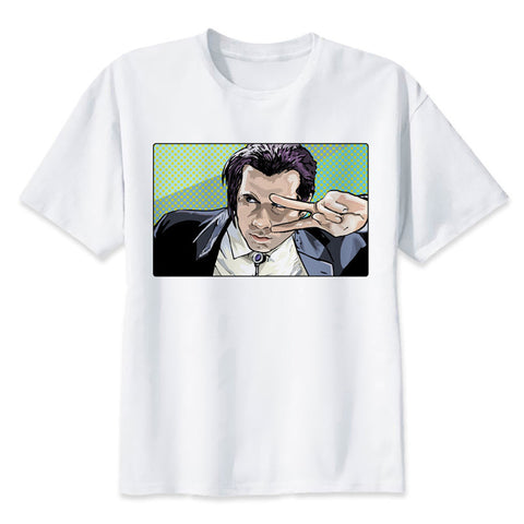56d193e78 pulp fiction men's T-shirt 2018 Fashion Men Novelty Printed Short Sleeve  Summer male Casual