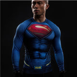 Superman Quick Dry Compression Shirt for Men (Long Sleeve)