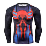 Superman Fitness Compression Shirt for Men (Long Sleeve)