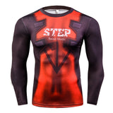 Deadpool 3D Crossfit Compression Shirt for Men (Long Sleeve) Edition B