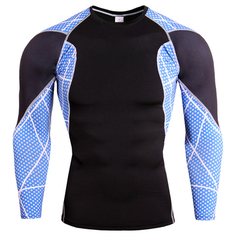 Deadpool Crossfit/Bodybuilding Compression Shirt for Men (Long Sleeve)